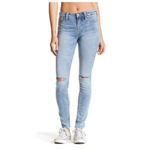 True Religion Knee Slit Super Skinny Jean